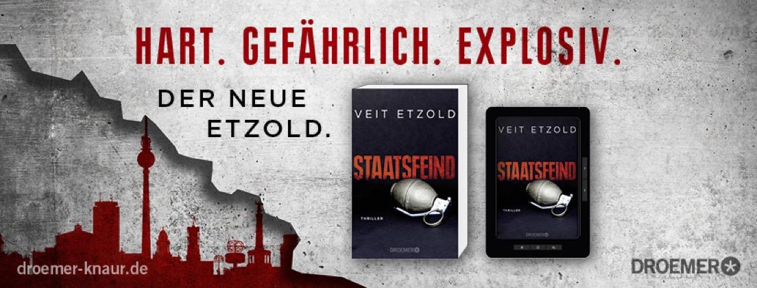 Der neue Etzold Politthriller: STAATSFEIND Buchpremiere in Berlin